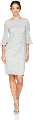 Jessica Howard JessicaHoward Women's Petite Lace Bell Sleeve Sheath