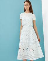 Ted Baker Layered lace midi dress