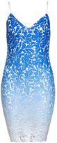 Quiz Blue Ombre Crochet Bodycon Midi Dress