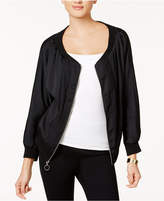Bar III Off-The-Shoulder Bomber Jacket, Created for Macy's