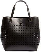 Karen Millen Perforated Mini Bucket Bag, Black