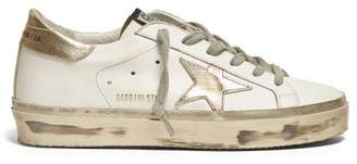 Golden Goose Hi Star Low-top Leather Trainers - Womens - White Gold
