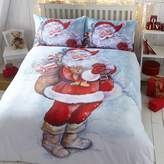 Kaleidoscope Father Christmas Duvet Cover & Standard Pillowcase Set