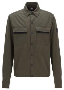 Hybrid sweat jacket with PrimaLoft padding