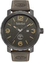 Timberland Men's Pinkerton Gray Leather Strap Watch 50x55mm TBL14399XSU13