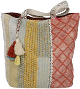 Katydid Collection Women's Handbags - Coral & Yellow Geometric Patchwork Tote