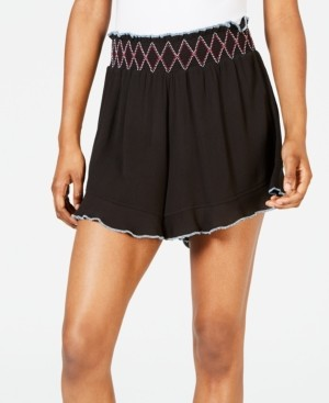 Miken Juniors' Ruffle-Edge Cover-up Shorts, Created for Macy's Women's Swimsuit
