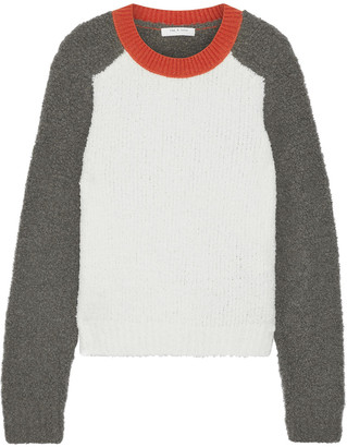 Rag & Bone Davis Color-block Boucle-knit Merino Wool-blend Sweater