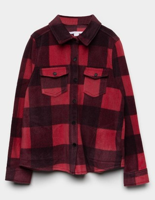 O'Neill Bluff Plaid Girls Black/Red Top