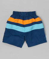 I Play Navy & Aqua Swim Diaper Trunks - Infant