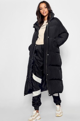 boohoo Tall Longline Padded Coat