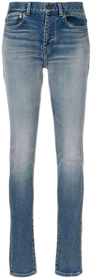Saint Laurent faded skinny jeans