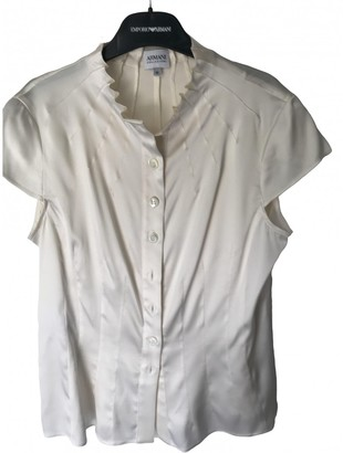 Armani Collezioni White Silk Top for Women