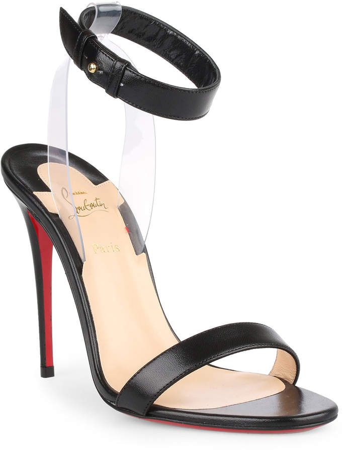Christian Louboutin Jonatina 100 black leather sandal