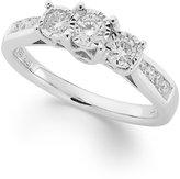 TruMiracle® Three-Stone Diamond Ring in 14k White Gold (1/2 ct. t.w.)
