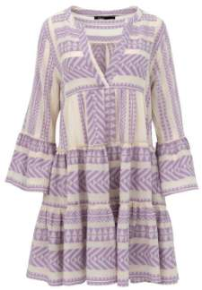 Devotion Embroidery Dress Whipu Purple/ White S