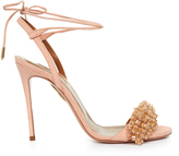 Aquazzura Monaco bead-embellished suede sandals