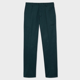 Paul Smith Men's Slim-Fit Dark Teal Stretch-Cotton Twill Trousers