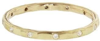 Melissa Joy Manning Twelve Diamond Stacking Ring Band - Yellow Gold