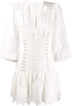 Zimmermann lace-up detail dress
