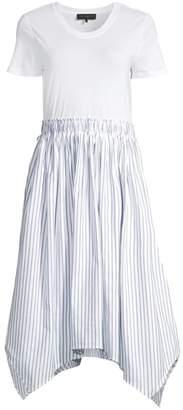 Donna Karan Short Sleeve A-Line Dress