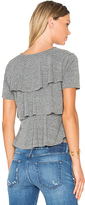 Amo Ruffle Tee in Grey. - size L (also in S,XS)