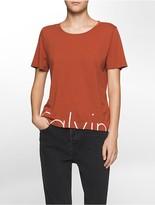 Calvin Klein Slim Fit Split Logo T-Shirt