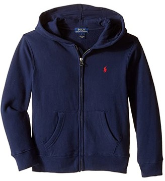 Polo Ralph Lauren Collection Fleece Full-Zip Hoodie (Little Kids) (Cruise Navy) Boy's Fleece