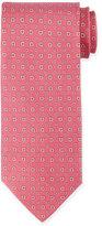 Salvatore Ferragamo Gancini-Print Silk Tie, Pink