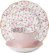 Royal Albert Rose Confetti Teacup/Saucer/Plate Set