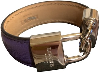 Loewe Purple Leather Bracelets