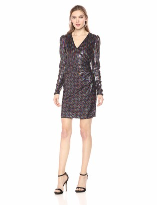 BCBGMAXAZRIA Azria Women's Multicolor Sequin Bodycon Dress