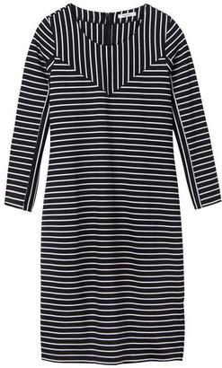 Sandwich three quarter sleeve stripe dress