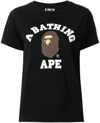 A Bathing Ape Ape college cotton T-shirt