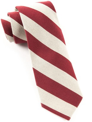 The Tie BarThe Tie Bar Deep Burgundy College Stripe Wool Tie