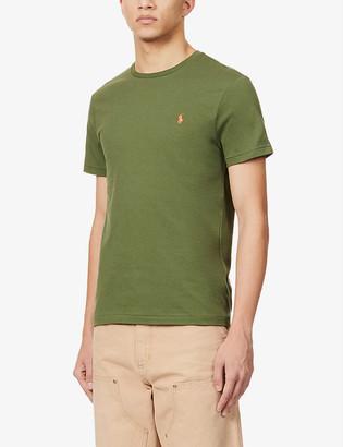 Polo Ralph Lauren Logo-print custom slim-fit cotton-jersey T-shirt