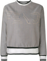 Fendi striped sweatshirt - women - Silk/Cotton/Polyamide/Spandex/Elastane - 38