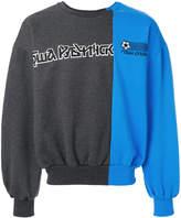 Gosha Rubchinskiy oversized logo jumper