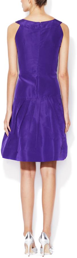 Oscar de la Renta Silk Faille A-Line Dress