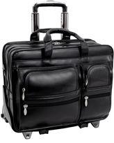 McKlein McKleinUSA Clinton 17 Leather Detachable -Wheeled Laptop Briefcase