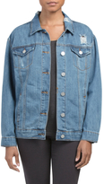 Juniors Oversized Denim Jacket