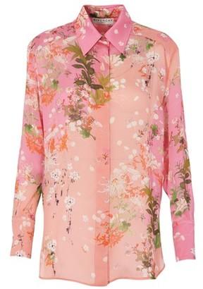 Givenchy Charmeuse printed shirt