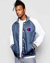 Champion Varsity Jacket With Contrast Sleeve