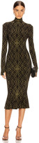 Norma Kamali Long Sleeve Turtleneck Fishtail Dress To Midcalf in Olive Sweater | FWRD