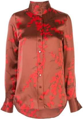 Equipment silk floral shirt