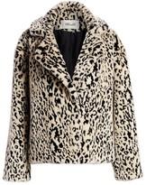 Diane von Furstenberg Jordan Leopard-Print Faux Fur Jacket
