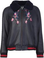 Jocelyn embroidered bomber jacket