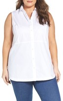 Foxcroft Plus Size Women's Non-Iron Sleeveless Tunic