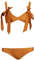 Zimmermann Veneto Bow-embellished Bikini - Womens - Brown