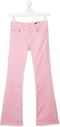 Diesel TEEN low-rise flared trousers